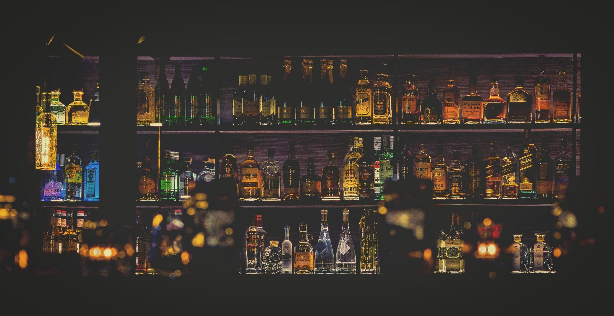dark full back bar