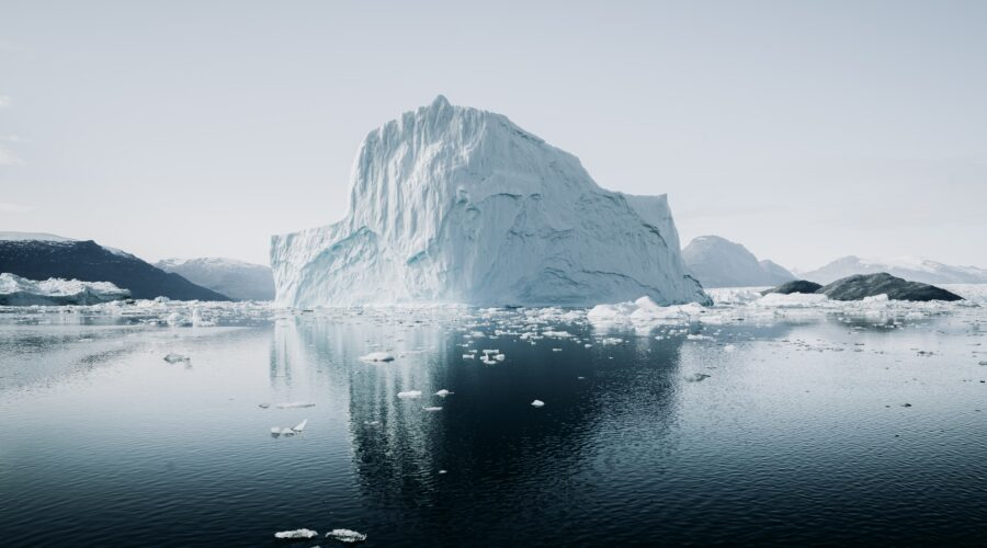iceberg on water