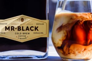 coffee liqueur in white russian or brown cow